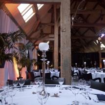 Gedekte tafels bruidsfeest